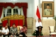 President Joko Widodo at the opening of a cabinet session at the State Palace in Jakarta on Monday