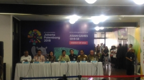 Indonesian Vice President Evaluates the Test Event Improvement of Asian Games Facility