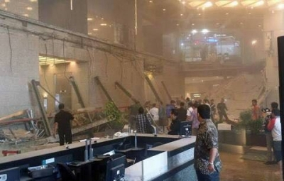 Indonesia's Stock Exchange Evacuated after Floor Collapse
