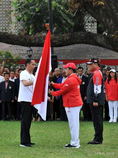President Inaugurated Indonesian Contingent to AG 2018