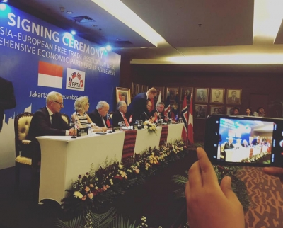 signing ceremony IECEPA at Ministry of Trade in Jakarta