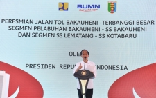 President Inaugurates First Toll Road in Lampung
