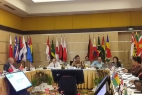 Maritime Affairs Ministry's Deputy for Maritime Sovereignty Purbaya Yudhi Sadewa (center) chaired the Senior Official Meeting / SOM of the 3rd Island Islands and Country State forum on Wednesday (31/10) in Manado, North Sulawesi. (Documentation of the Coordinating Ministry of Maritime Affairs)