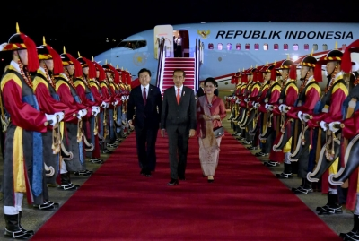 President Joko Widodo Arrives in Seoul, Korea