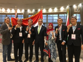 Indonesian Four Silver Medalist of IBO's in Iran