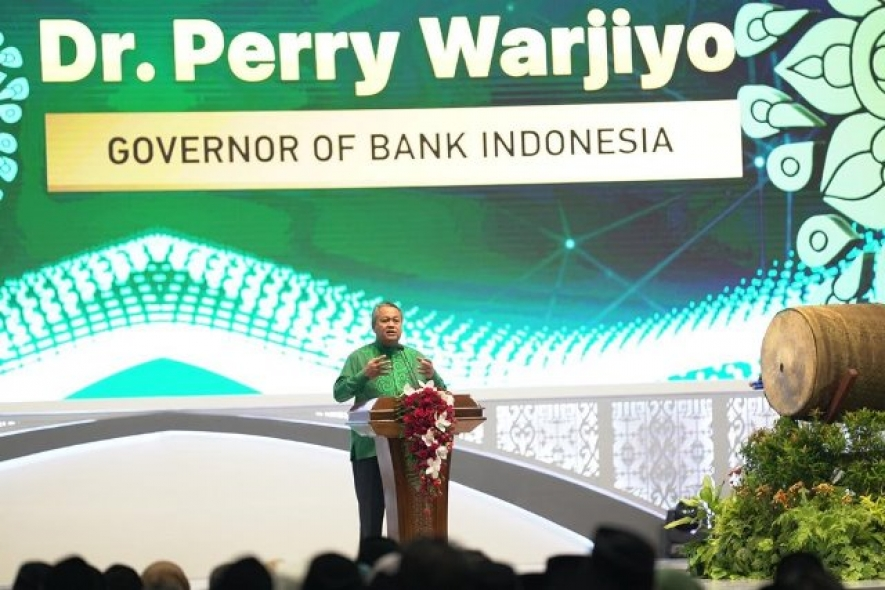 BI Governor Perry Warjiyo in opening the 2019 Indonesia Sharia Economic Festival (ISEF) in Jakarta, Wednesday (11/13) (Bank Indonesia Documentation)