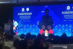 Opening ceremony of the World Parliamentary Forum on Sustainable Development (WPFSD) in Kuta, Bali, on September 4, 2019