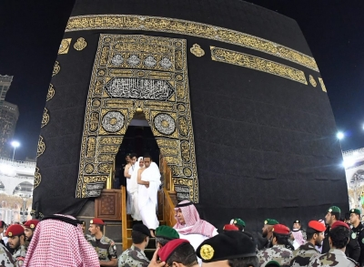 President Joko Widodo after entering the Kaba in Mecca
