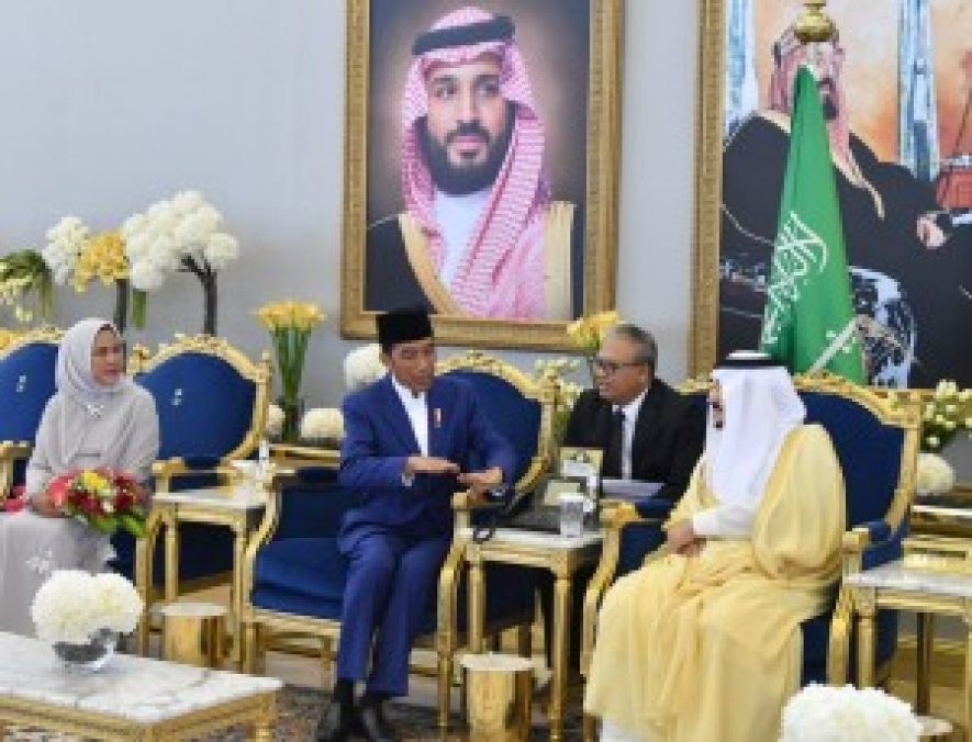 Presiden Joko widodo arrived in Riyadh