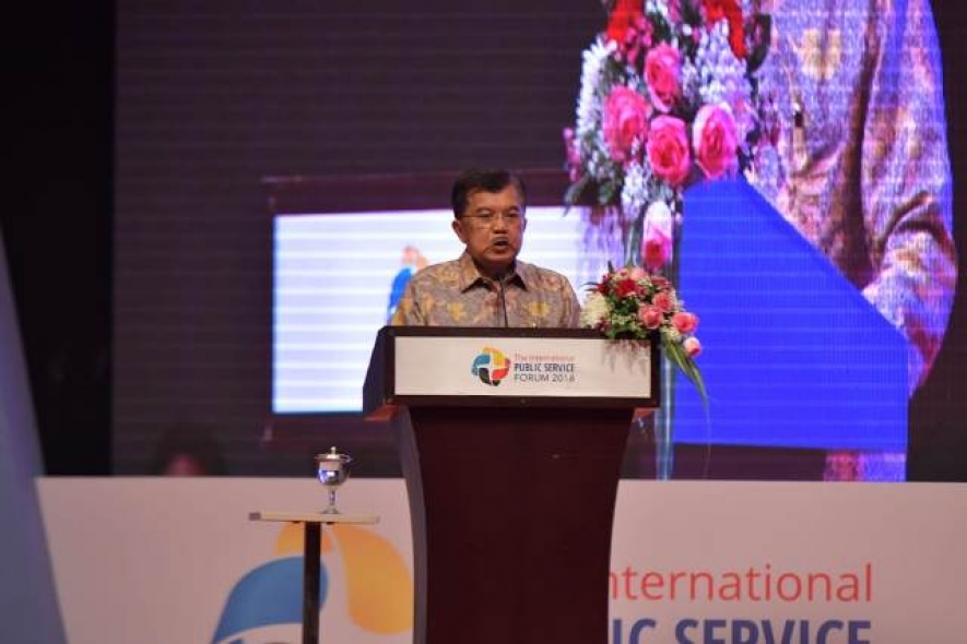 Indonesian Vice President Jusuf Kalla Opened Indo Defence Expo and Forum 2018