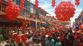 Thousands of Lanterns Light up Singkawang for Chinese New Year