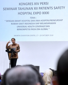 President Jokowi Encourages Hospitals to Anticipate Global Change