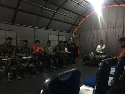 Visiting the Handling of the Earthquake Impact, President Jokowi Holds a Limited Meeting in North Lombok
