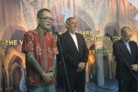 Chairman of the Jakarta Arts Council Irawan Karseno at the opening of Iran Culture and Art Festival Saturday, 16 February,  2019