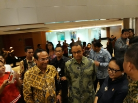 "Minister of Foreign Affairs Republic of Indonesia, Retno Marsudi opened the Indonesia Channel 2018 show entitled ""The Colors of Beautiful Indonesia"" at Taman Ismail Marzuki Grand Theater, Jakarta, Wednesday, July 4th"
