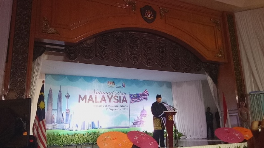 Deputy Ambassador of Malaysia in Indonesia, Zamshari Shaharan at Malaysian National Day 19.09.2018
