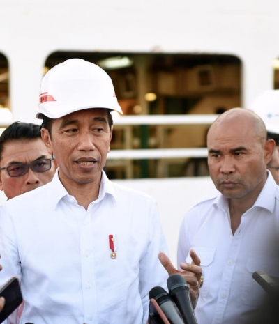 President Joko Widodo visits Tenau Port in Kupang, East Nusa Tenggara (NTT), Wednesday (21/08/2019)
