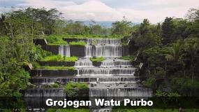 Grojogan Watu Purbo : een waterval met meerdere niveaus uit Yogyakarta