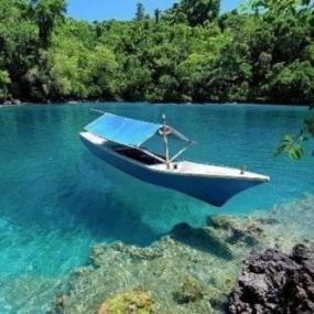 Le lac de Labuan Cermin