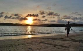 La plage Tanjung Aan.