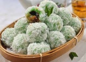 Klepon, der indonesische traditionelle Kuchen