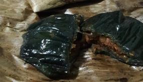 Purworejoの伝統的な料理、Lompongケーキ