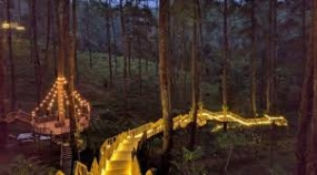 西ジャワ州レンバンのOrchid Forest(蘭園)の観光地