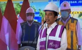 President Jokowi Inaugurates Manado-Bitung Toll Road Virtually