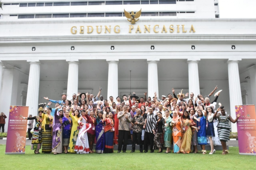 Participants of BSBI 2019 in front of Pancasila building