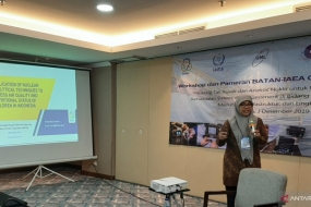 BATAN's air quality expert Prof Muhayatun Santoso delivered her nuclear-based analysis at a workshop in Jakarta, Tuesday (Dec 3, 2019).