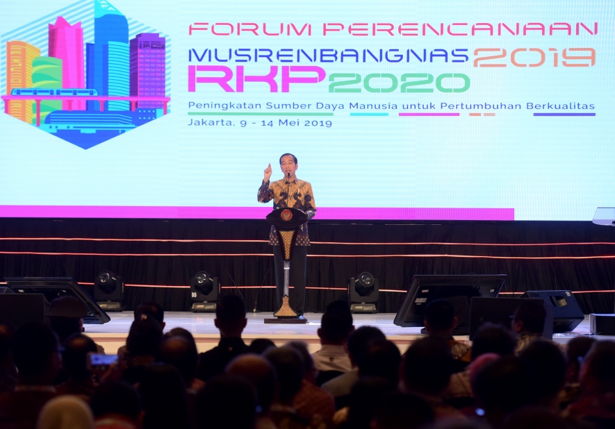 President Joko Widodo gave his remarks on the Forum of National Planning