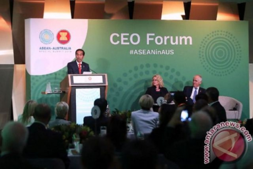 Indonesia President Joko Widodo at CEO Forum of ASEAN-Australia Special Summit