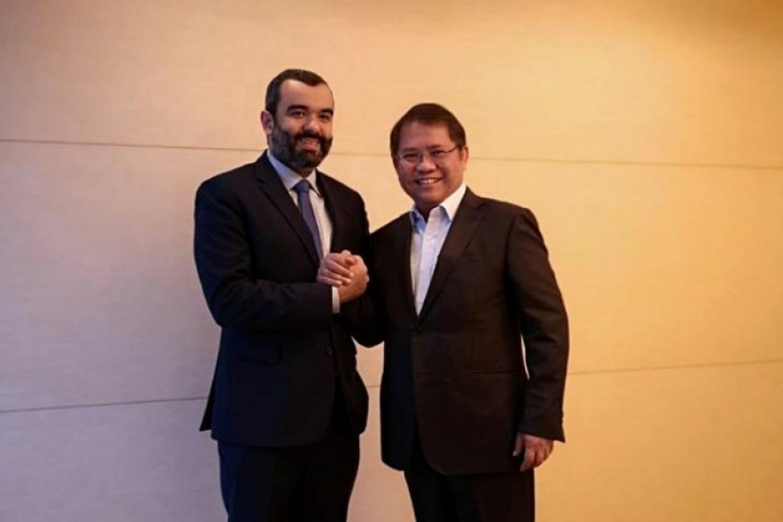 Indonesian Minister of Communication and Information Rudiantara (right) met with Saudi Arabian Minister of Communication and ICT Abdullah Alswaha (left) at the G20 Digital Economy and Trade Ministerial Forum in Tsukuba, Japan, on Friday (June 7, 2019)