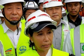 Minister of State Enterprises Rini Soemarno told the press in Walini, West Bandung District of West Java on Tuesday (14/5/2019) on the progress of high-speed railway construction.