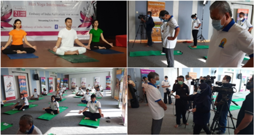 Embassy of India celebrates  the 6th International Day of Yoga at its Auditorium on 21st June 2020.