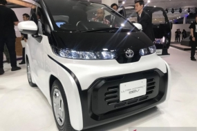 An ultra-compact battery electric vehicle (BEV) is displayed at the Tokyo Motor Show held from Oct 24 to Nov 4, 2019. The car will be produced and marketed in Japan in 2020
