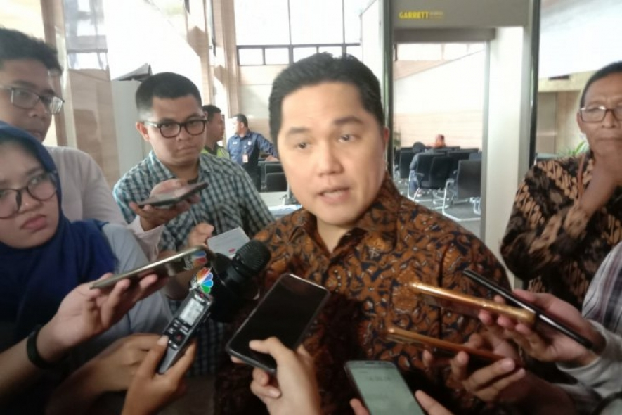 Indonesian State-Owned Enterprises Minister Erick Thohir spoke to the press following a joint meeting at the Coordinating Ministry for Economic Affairs in Jakarta on Tuesday.