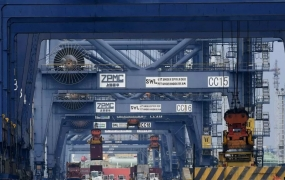 containers at Tanjung Priok Port, in Jakarta, on Tuesday.